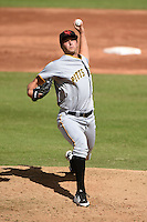 Scottsdale Scorpions pitcher Tom Harlan (93) during an Arizona Fall League game against the Surprise Saguaros on October 16, 2014 at Surprise Stadium in Surprise, Arizona.  Surprise defeated Scottsdale 7-3.  (Mike Janes/Four Seam Images)