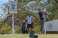 Charl Schwartzel (RSA) watches his tee shot on 12 during round 1 of the World Golf Championships, Dell Match Play, Austin Country Club, Austin, Texas. 3/21/2018.<br /> Picture: Golffile | Ken Murray<br /> <br /> <br /> All photo usage must carry mandatory copyright credit (&copy; Golffile | Ken Murray)