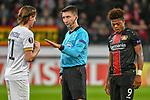 08.11.2018, BayArena, Leverkusen, Europaleque, Vorrunde, GER, UEFA EL, Bayer 04 Leverkusen (GER) vs. FC Zuerich (SUI),<br />  <br /> DFL regulations prohibit any use of photographs as image sequences and/or quasi-video<br /> <br /> im Bild / picture shows: <br /> Diskussion mit Schiedsrichter / referee Pawel Gil (SR) von Hekuran Kryeziu (FC Zuerich #71), <br /> <br /> Foto &copy; nordphoto / Meuter<br /> <br /> <br /> <br /> Foto &copy; nordphoto / Meuter