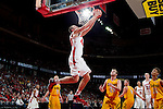 Wisconsin Badgers forward Jared Berggren (40) scores during an NCAA exhibition basketball game against UW-Oshkosh Titans Wednesday, November 7, 2012 in Madison, Wis. The Badgers won 96-44. (Photo by David Stluka)