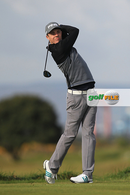 Stuart Grehan (Tullamore) on the 3rd tee during Round 1 of the Flogas Irish Amateur Open Championship at Royal Dublin on Thursday 5th May 2016.<br /> Picture:  Thos Caffrey / www.golffile.ie