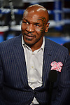 MIAMI, FL - JULY 10: Promoter and former boxer Mike Tyson during Iron Mike Judgement Day boxing match at AmericanAirlines Arena on July 10, 2014 in Miami, Florida.  (Photo by Johnny Louis/jlnphotography.com)