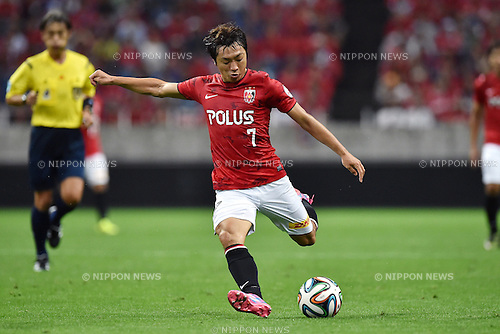 Tsukasa Umesaki (Reds),<br /> AUGUST 16, 2014 - Football / Soccer :<br /> 2014 J.League Division 1 match between Urawa Red Diamonds 1-0 Sanfrecce Hiroshima at Saitama Stadium 2002 in Saitama, Japan. (Photo by AFLO)