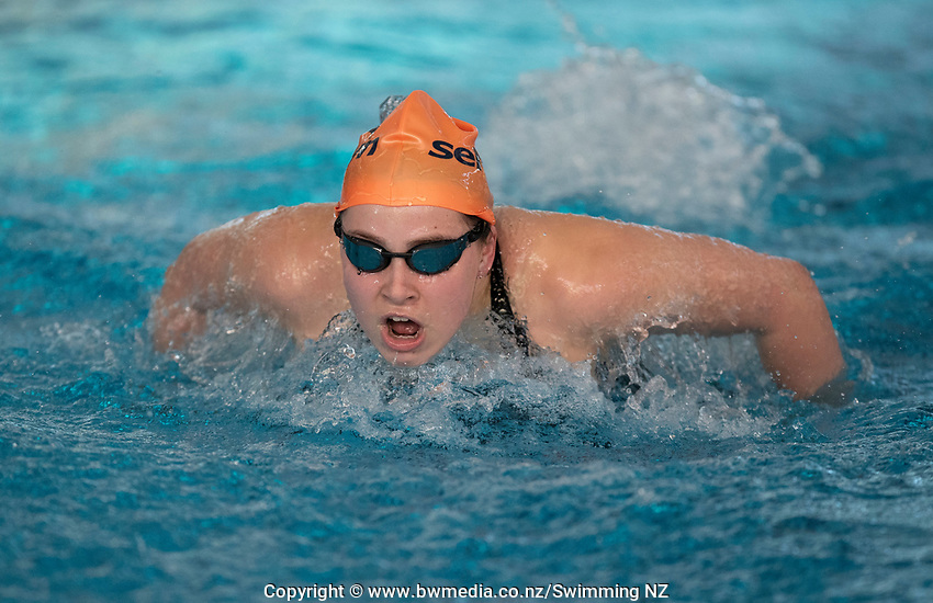Emma Benn during the Final of the Women 100SC meter Butterfly Multi-Class, at the New Zealand Short Course Swimming Championships, National Aquatic Centre, Auckland, New Zealand, Friday 4th October 2019. Photo: Brett Phibbs/www.bwmedia.co.nz/SwimmingNZ