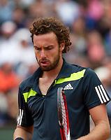 France, Paris, 01.06.2014. Tennis, French Open,  Roland Garros, Ernests Gulbis (LAT)<br /> Photo:Tennisimages/Henk Koster