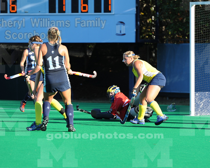 The University of Michigan field hockey team lost to No. 8 Old Dominion University, 6-1, in the opening round of the NCAA Tournament at Francis E. Henry Stadium in Chapel Hill, N.C. on November 10, 2012.