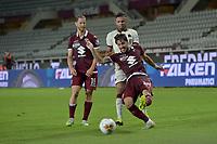 29th July 2020; Olympic Grande Torino Stadium, Turin, Piedmont, Italy; Serie A Football, Torino versus Roma; Simone Verdi of Torino FC crosses the ball into the box