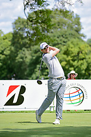 Bernd Wiesberger (AUT) watches his tee shot on 11 during Saturday's round 3 of the World Golf Championships - Bridgestone Invitational, at the Firestone Country Club, Akron, Ohio. 8/5/2017.<br /> Picture: Golffile | Ken Murray<br /> <br /> <br /> All photo usage must carry mandatory copyright credit (&copy; Golffile | Ken Murray)