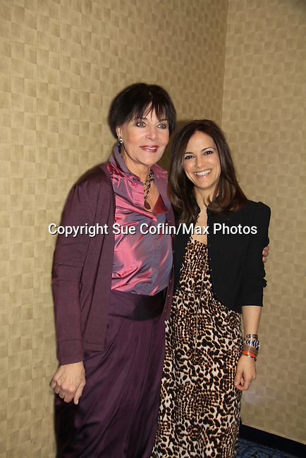 Another World Linda Dano & All My Children Rebecca Budig (Guiding Light) on March 21, 2013 at the HeartShare 25th Annual Spring Gala and Auction at the New York Marriott, NYC, NY.  (Photo by Sue Coflin/Max Photos)