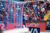 VALENCIA, SPAIN - MARCH 10: Diop and fans during BBVA LEAGUE match between Levante U.D. Andr Atletico de Madrid at Ciudad de Valencia Stadium on March 10, 2015 in Valencia, Spain