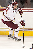 Adam Gilmour (BC - 14) - The Boston College Eagles defeated the visiting University of Connecticut Huskies 3-2 on Saturday, January 24, 2015, at Kelley Rink in Conte Forum in Chestnut Hill, Massachusetts.