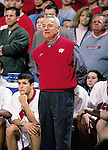 University of Wisconsin head coach Dick Bennett during the Northern Illinois game at the Kohl Center in Madison, WI, on 11/25/00. Wisconsin beat Northern Illinois 68-64. (Photo by David Stluka)