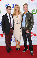 BEVERLY HILLS, CA - JULY 29: Dan Bucatinsky, Lisa Kudrow and Writer Dan Roos arrive at the CBS, Showtime and The CW 2012 TCA summer tour party at 9900 Wilshire Blvd on July 29, 2012 in Beverly Hills, California. /NortePhoto.com<br />