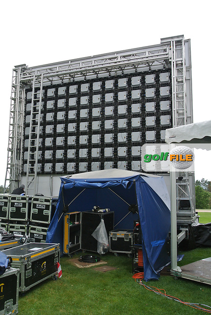 The back of the BIG screen during Practice Day 1of The Open De Espana at The PGA Catalunya Resort on Tuesday 13th May 2014.<br /> Picture:  Thos Caffrey / www.golffile.ie