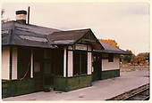 D&amp;RGW Aztec depot in the last years.<br /> D&amp;RGW  Aztec, NM  10/28/1963