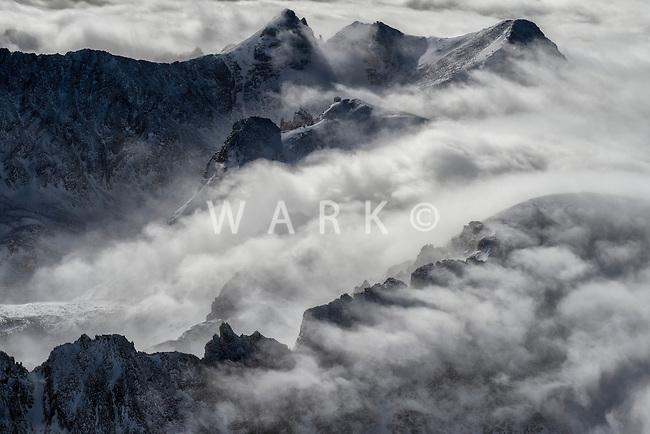 Rocky Mountains west of Denver, Colorado. Jan 2, 2015