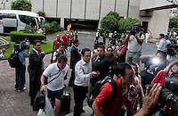 Arriving in Mexico, U.S. Men's National Team vs. Mexico - August 11, 2009 at Estadio Azteca; Mexico City, Mexico.   .