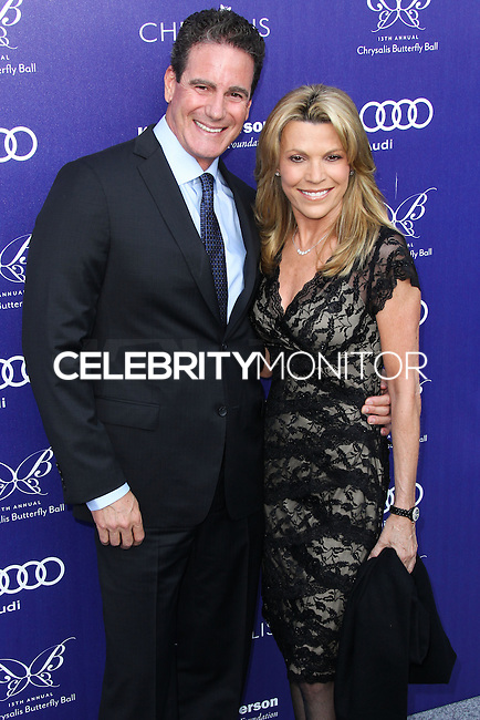 BRENTWOOD, LOS ANGELES, CA, USA - JUNE 07: George Santo Pietro, Vanna White at the 13th Annual Chrysalis Butterfly Ball held at Brentwood County Estates on June 7, 2014 in Brentwood, Los Angeles, California, United States. (Photo by Xavier Collin/Celebrity Monitor)