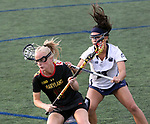 Maryland's Caroline Steele (11) against Penn State on April 20, 2017. No. 1 Maryland defeated No. 5 Penn State 16-14.  Photo/Craig Houtz