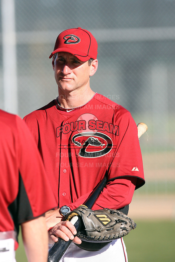 Charles Nagy (pitching coach), Arizona Diamondbacks 2011 spring training workouts at the Diamondbacks new training complex at Salt River Fields at Talking Stick, Scottsdale, AZ - 02/14/2011.Photo by:  Bill Mitchell/Four Seam Images.