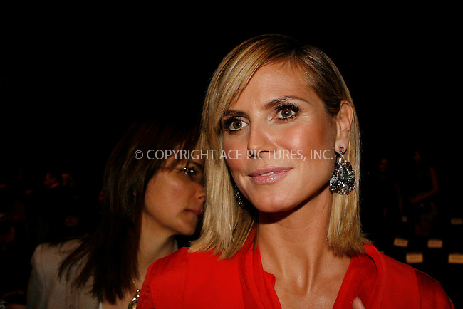 WWW.ACEPIXS.COM . . . . .  ....September 9 2010, New York City....Heidi Klum at Mercedes Benz Spring 2011 New York Fashion Week at the Lincoln Center on September 9 2010 in New York City....Please byline: NANCY RIVERA- ACEPIXS.COM.... *** ***..Ace Pictures, Inc:  ..Tel: 646 769 0430..e-mail: info@acepixs.com..web: http://www.acepixs.com