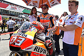 June 4th 2017, Mugello Circuit, Tuscany, Italy; MotoGP Grand Prix of Italy, Race day; Marc Marquez (Repsol Honda) on the grid before the start