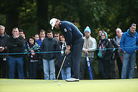 Graeme McDowell (NIR) in putting action during the Final Round of the British Masters 2015 supported by SkySports played on the Marquess Course at Woburn Golf Club, Little Brickhill, Milton Keynes, England.  11/10/2015. Picture: Golffile | David Lloyd<br /> <br /> All photos usage must carry mandatory copyright credit (&copy; Golffile | David Lloyd)