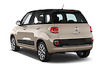 Car pictures of rear three quarter view of a 2014 Fiat 500L Lounge 5 Door MPV angular rear
