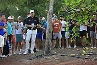 Lee Westwood (ENG) on the 18th fairway during the final round of the DP World Tour Championship, Jumeirah Golf Estates, Dubai, United Arab Emirates. 18/11/2018<br /> Picture: Golffile | Fran Caffrey<br /> <br /> <br /> All photo usage must carry mandatory copyright credit (© Golffile | Fran Caffrey)
