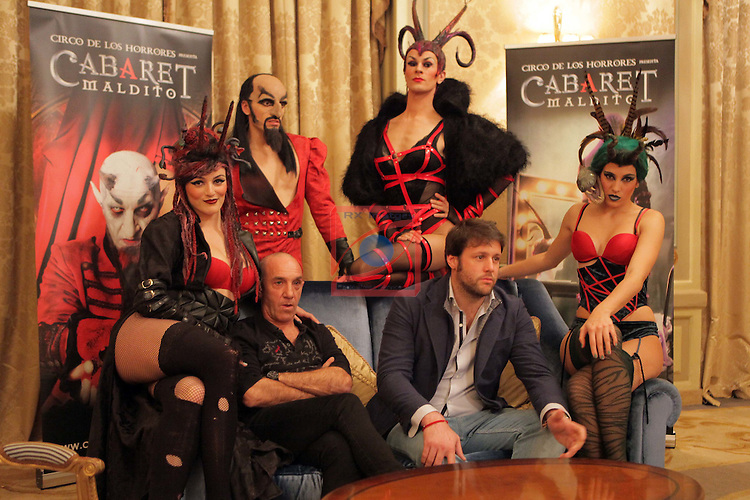 Cabaret Maldito.<br /> Rueda de prensa en Barcelona.<br /> Lilith (Maria Garcia), Mefistoteles, La Perversa (Francisco Jose Garcia), Suso Silva, Rafael Gonzalez &amp; Lamia (Miriam Vega).