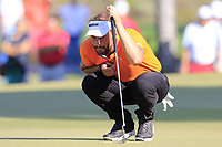 Joost Luiten (NED) on the 17th green during Sunday's Final Round of the 2018 Turkish Airlines Open hosted by Regnum Carya Golf &amp; Spa Resort, Antalya, Turkey. 4th November 2018.<br /> Picture: Eoin Clarke | Golffile<br /> <br /> <br /> All photos usage must carry mandatory copyright credit (&copy; Golffile | Eoin Clarke)