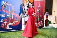 NOVA YORK, EUA, 01.06.2018 - ONU-RUSSIA - A cantora russa Zara Mgoyan durante evento de apresentação da Copa do Mundo de 2018 na sede das Nações Unidas em Nova York nesta sexta-feira, 01. (Foto: William Volcov/Brazil Photo Press)