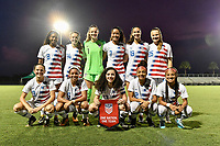 Lakewood Ranch, FL - Wednesday, October 10, 2018:   USWNT Starting XI during a U-17 USWNT match against Colombia.  The U-17 USWNT defeated Colombia 4-1.