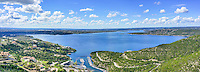 This is an aerial pano view of Lake Travis taken at around 300 AGL ft.  We loved that the lake is finally full for the first time in many years and we had good clouds and sky on this day.  You can see the marina below, along with the dam, and the full bowl of the lake and you can also see the  river channel as it meanders though the hill country.