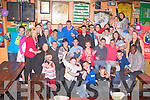 21ST BIRTHDAY: Jono Culloty, Connolly Park, Tralee (seated centre) having a great time celebrating his 21st birthday at the Huddle bar, Tralee on Friday.