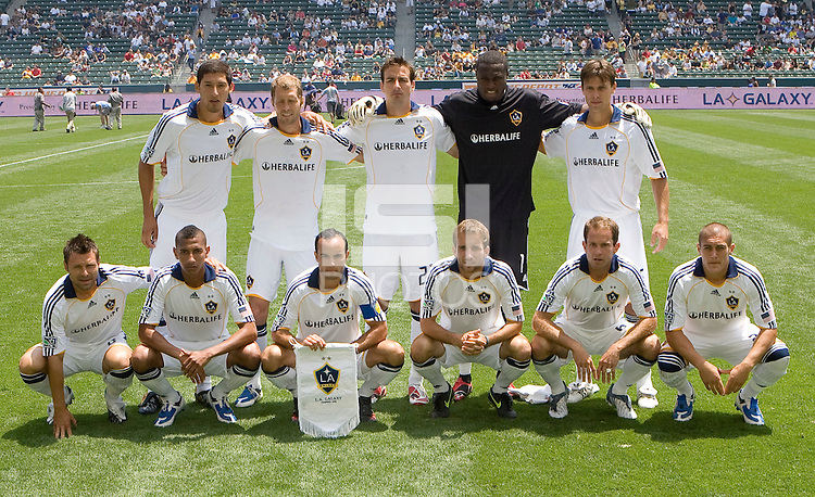 LA Galaxy starting eleven. The Columbus Crew and the LA Galaxy played to a 1-1 tie at Home Depot Center stadium in Carson, California on Sunday May 17, 2009.   .