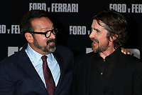 """LOS ANGELES - NOV 4:  James Mangold, Christian Bale at the """"Ford v Ferrari"""" Premiere at TCL Chinese Theater IMAX on November 4, 2019 in Los Angeles, CA"""