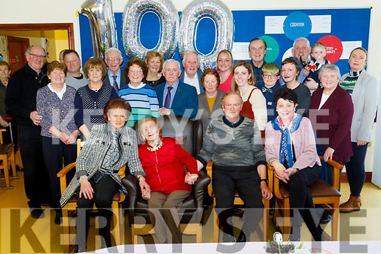 Joan Hayes celebrating her 100th birthday with her family and friends in the Oaklands Nursing Home in Listowel on Thursday