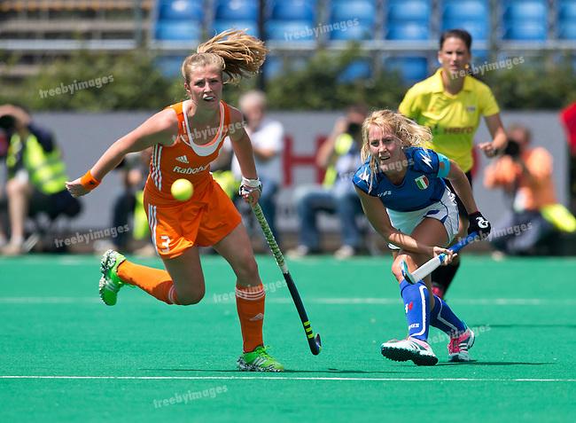 27/06/2015<br /> HWL Semi Final Antwerp Belgium 2015<br /> Netherlands v Italy Women<br /> Celina Traverso<br /> Photo: Grant Treeby