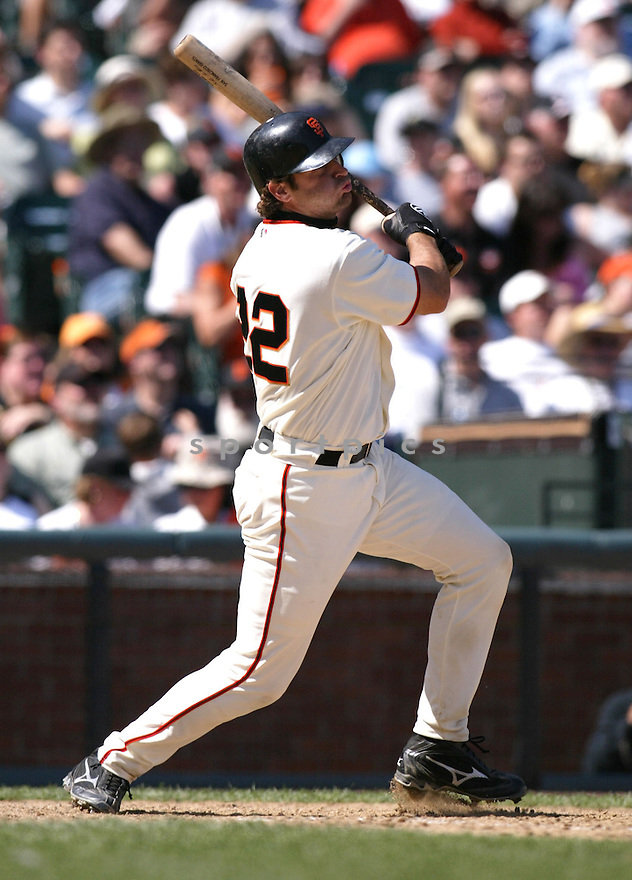 Mike Matheny during the San Francisco Giants v. Colorado Rockies game on April 10, 2005...San Francisco wins 11-4..Rob Holt / SportPics