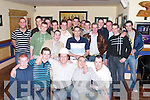 DOUBLE: John Carmody and Tomas Dunne of Ballymacelligott (seated second row) who celebrated their 21st Birthdays at O Riadas Bar & Restaurant, Ballymacelligott, on Friday night..