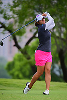 Marina Alex (USA) watches her tee shot on 3 during round 3 of  the Volunteers of America Texas Shootout Presented by JTBC, at the Las Colinas Country Club in Irving, Texas, USA. 4/29/2017.<br /> Picture: Golffile | Ken Murray<br /> <br /> <br /> All photo usage must carry mandatory copyright credit (&copy; Golffile | Ken Murray)