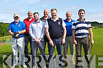 GOLF: Playing in the Capts of Ballyheigue Golf Club Prize day golf on Sunday at Ballyheigue Golf Club, L-r: John Lohan, Liam O'Mahony, Pa Dineen,  Rice McElligott, Declan McCann (capt), John Barrett and Earl McMahon.