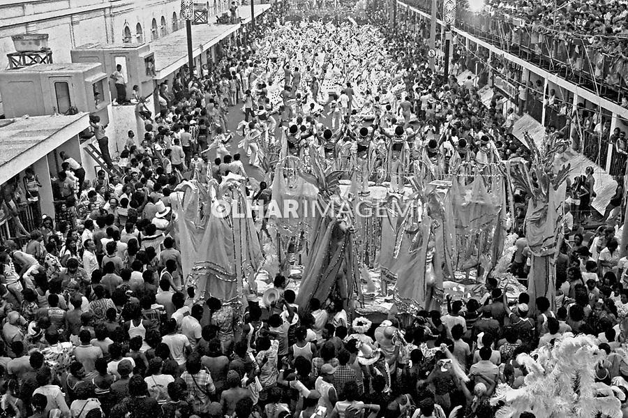 Desfile de carnaval da Beija Flor. Rio de Janeiro. I979. Foto de Juca Martins.
