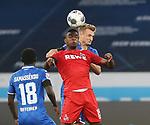 Diadie Samassekou (TSG 1899 Hoffenheim), Jhon Cordoba (1.FC Köln) und Stefan Posch (TSG 1899 Hoffenheim)<br /> <br /> Foto: POOLFOTO/Avanti/Ralf Poller/PIX-Sportfotos.<br /> TSG 1899 Hoffenheim-1. FC Koeln.<br /> Sinsheim,  GER, 27.05.2020 , 28. Spieltag , Fussball 1. Bundesliga 2019/2020.<br /> <br /> Sport: Fussball: LIGA: Saison 19/20: TSG 1899 Hoffenheim- 1.FC Koeln, 27.05.2020.<br /> Foto: RALF POLLER/AVANTI/POOL<br /> <br /> Nur für journalistische Zwecke! Only for editorial use! <br /> Gemäß den Vorgaben der DFL Deutsche Fußball Liga ist es untersagt, in dem Stadion und/oder vom Spiel angefertigte Fotoaufnahmen in Form von Sequenzbildern und/oder videoähnlichen Fotostrecken zu verwerten bzw. verwerten zu lassen. DFL regulations prohibit any use of photographs as image sequences and/or quasi-video.