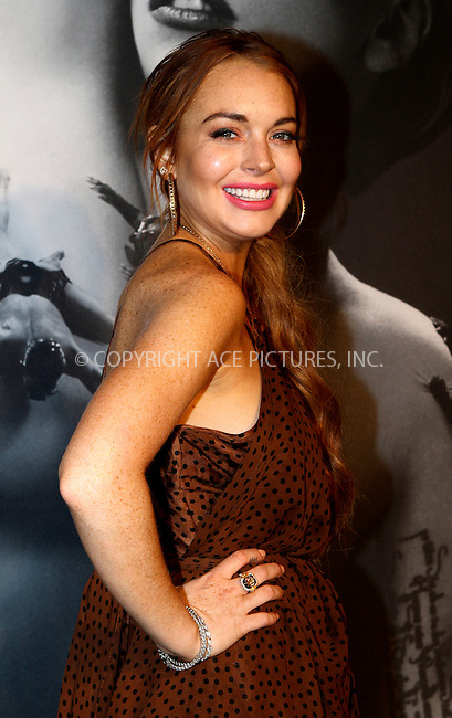 WWW.ACEPIXS.COM....September 13 2012, New York City......Lindsay Lohan at the Lady Gaga 'Fame' Eau de Parfum Launch Event at the Guggenheim Museum on September 13, 2012 in New York City......By Line: Nancy Rivera/ACE Pictures......ACE Pictures, Inc...tel: 646 769 0430..Email: info@acepixs.com..www.acepixs.com