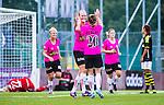 Solna 2014-08-16 Fotboll Damallsvenskan AIK - Kopparbergs/G&ouml;teborg FC :  <br /> Kopparbergs/G&ouml;teborgs Annica Sj&ouml;lund har 0-2 och jublar med Manon Melis <br /> (Foto: Kenta J&ouml;nsson) Nyckelord:  AIK Gnaget Kopparbergs G&ouml;teborg Kopparbergs/G&ouml;teborg jubel gl&auml;dje lycka glad happy
