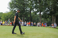 Dustin Johnson (USA) departs the 11th tee during Sunday's final round of the PGA Championship at the Quail Hollow Club in Charlotte, North Carolina. 8/13/2017.<br /> Picture: Golffile | Ken Murray<br /> <br /> <br /> All photo usage must carry mandatory copyright credit (&copy; Golffile | Ken Murray)