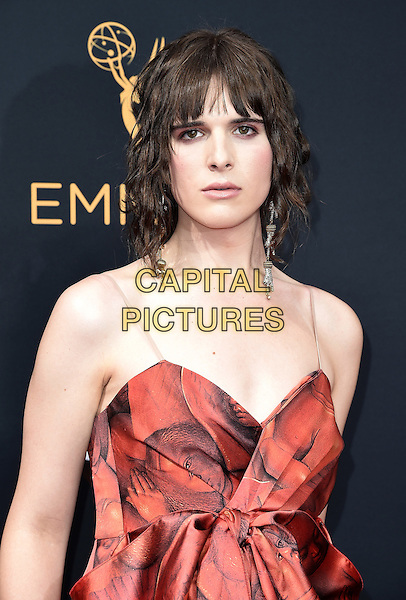 LOS ANGELES, CA - SEPTEMBER 18: Hari Nef arrives at the 68th Emmy Awards at the Microsoft Theater on Sunday, September 18, 2016, in Los Angeles, California. <br /> CAP/MPI99<br /> &copy;MPI99/Capital Pictures