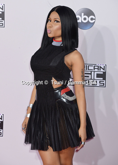 Nicki Minaj 065 at the 2014 American Music Awards arrival at the Nokia Theatre on Nov. 23, 2014, in Los Angeles.